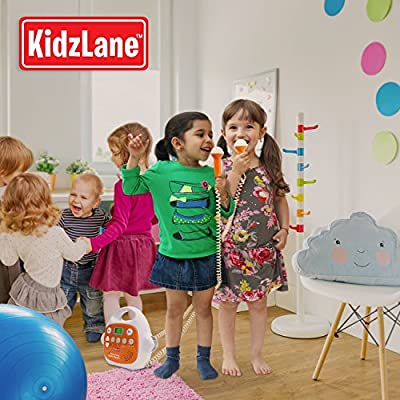 Kids MP3 Player Karaoke Machine 2 Microphone, Built in Music Storage, Bluetooth/MP3/AUX Connection by Kidzlane