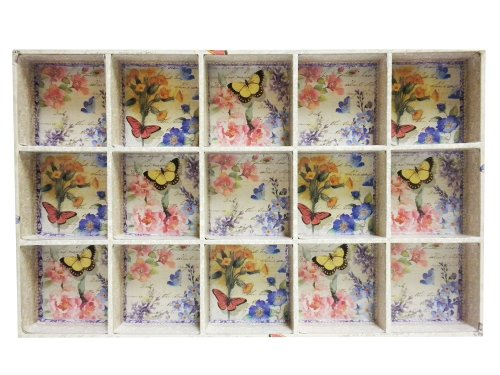 Punch Studio Rectangular Storage Tray, Bluebell Butterflies front-13267