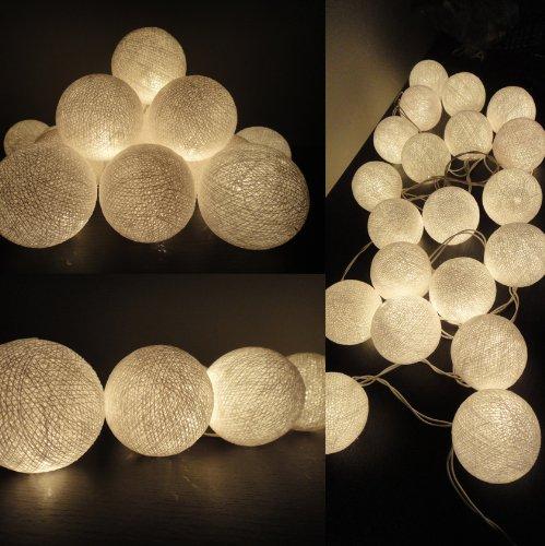 Weiße Kugel LED Lichterkette Von flowerglow