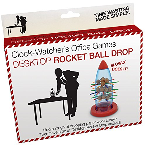 Clock Watchers Rocket Ball Drop Office Novelty Game Toy Gift Work Executive Desk