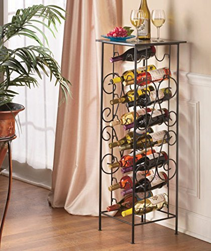 Space-saving 16 Bottle Wine Table