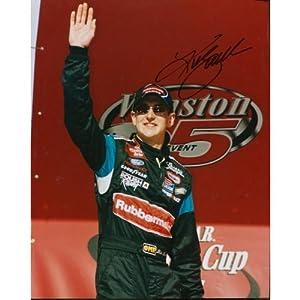 Autographed Kurt Busch Photograph - 8x10 - Autographed NASCAR Photos by Sports Memorabilia