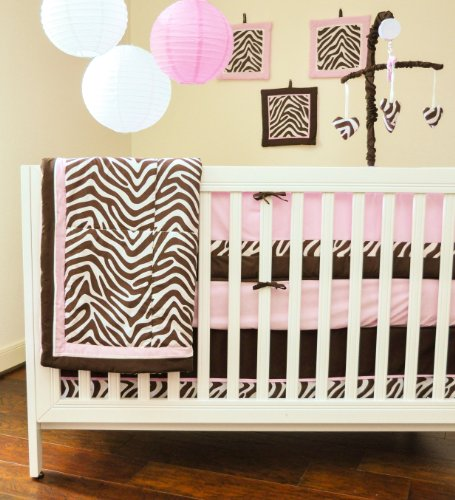 Pam Grace Creations 10 Piece Crib Bedding Set, Zara Zebra - 1