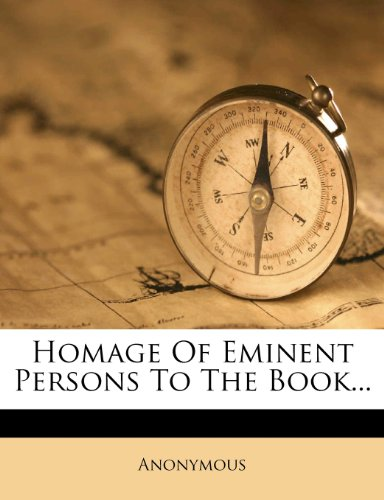 Homage Of Eminent Persons To The Book...