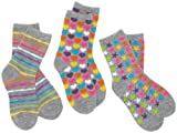 Jacques Moret Girls 7-16 Grey/multi Colored Girls 3 Pack Anklets