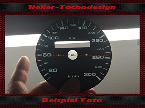 Tachoscheibe Porsche 911 964 993 ohne Tageskilometerzähler Km/h