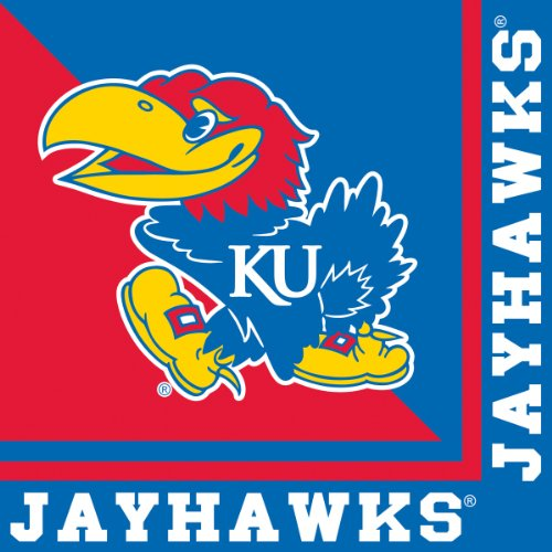 Creative Converting Kansas Jayhawks Luncheon Napkins (20 Count) - 1