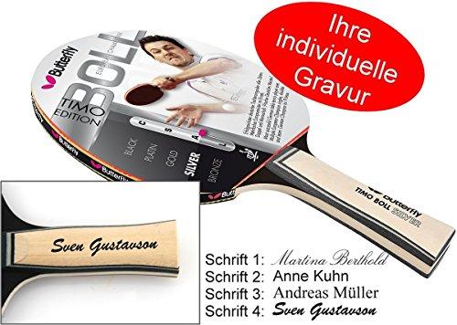 Timo Boll Silver Tischtennisschläger Butterfly Edition 2014 mit Geschenk Gravur