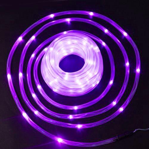 New Purple Solar Rope Tube 50 Led Lights String Garden Light Inside/Outside For Halloween Christmas