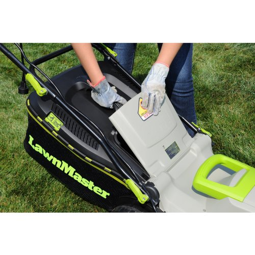 LawnMaster MEB1246M 18-Inch 3-in-1 Electric Mulching Mower image
