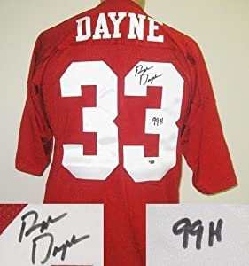 Ron Dayne Autographed Russell Wisconsin Jersey