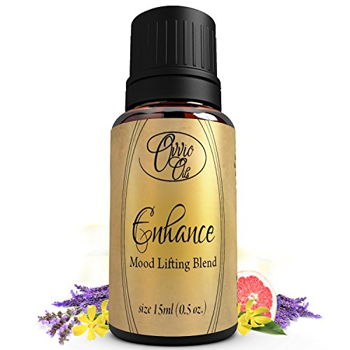 Enhance Mood Lifting Blend by Ovvio Oils - Essential Oil Blend Naturally Brings Joy, Anti-Depression, and Happiness - Large 15ml