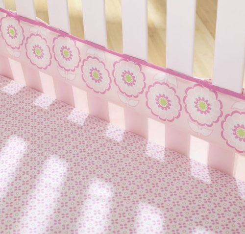 Flowers Fresh Air Crib Liner front-357368