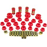 Prothane 13-301 Red Rear Upper and Lower Control Arm Bushing Kit