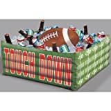 """Amscan Football Fan Birthday Party Inflatable Plastic Cooler (1 Piece), Green, 14.2 x 11.3"""""""