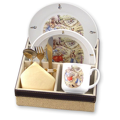 Beatrix Potter Peter Rabbit Porcelain Breakfast 3 piece set - 1