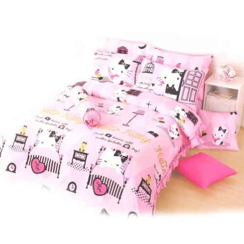 Hello Kitty Queen Size Bed: Sweet Dreams front-896495