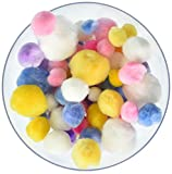 Pepperell Assorted Pom Poms, Pastel Colors, 300 Per Package