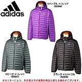 adidas(アディダス) Basic ライトウエイト ダウンジャケット ZB188 (Aピーク×Iレッド(X55947), L)
