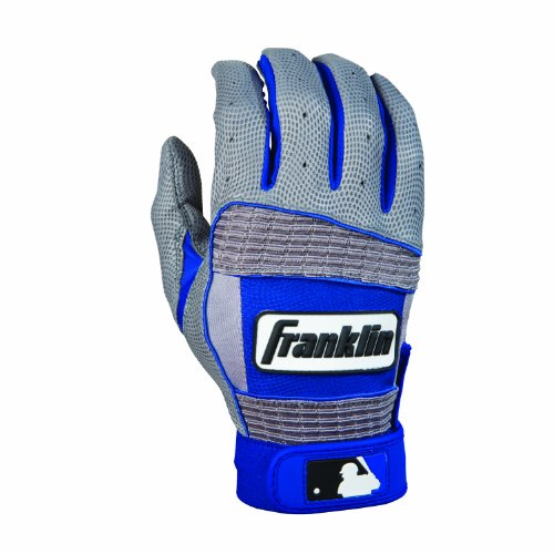 Franklin Sports MLB Youth Neo Classic II Series Batting Glove (Gray/Blue, Medium) (Blue Batting Gloves compare prices)