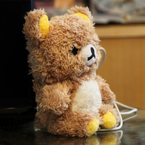 EveryOne-Buy Stylish Cute 3D Teddy Bear Doll Toy Plush Case Cover For Apple iPhone 6 4.7 inch iPod Touch 4 iPod Touch 5 iPhone 5S/5/5C/4S/4 Brown new stuffed white squint eyes teddy bear plush 180 cm doll 70 inch toy gift wb8303
