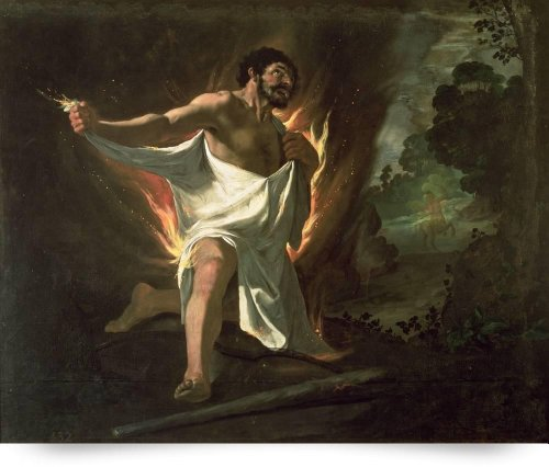 Hercules Tearing The Burning Robe, C.1634 (Giclee Art Print), The Fine Art Masters front-986111