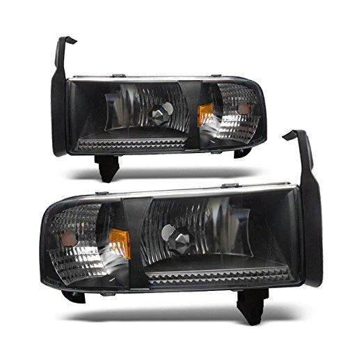 Starr Lite 94-01 Dodge Ram 1500 / 94-02 Dodge Ram 2500 / 94-02 Dodge Ram 3500 Crystal Head Lights - (Black / Clear)