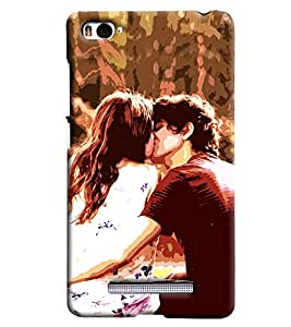 Clarks Cuouple Kissing Hard Plastic Printed Back Cover/Case For Xiaomi Mi4i