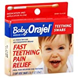Baby Orajel Teething Pain Relief, Fast, Teething Swabs, Berry Flavor, 12 ct.