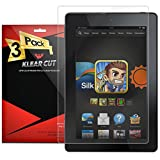 Klear Cut [3 Pack] - Screen Protector for Amazon Fire HD 7 (2014) - Lifetime Replacement Warranty - Anti-Bubble & Anti-Fingerprint High Definition (HD) Clear Premium PET Cover - Retail Packaging