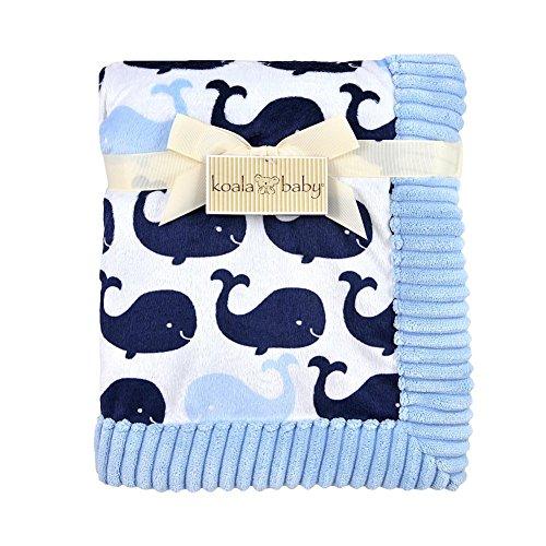 Koala Baby Blue Whale Printed Valboa Blanket - 1