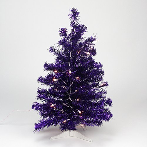 ... Purple Iridescent Pine Artificial Tinsel Christmas Tree with Clear