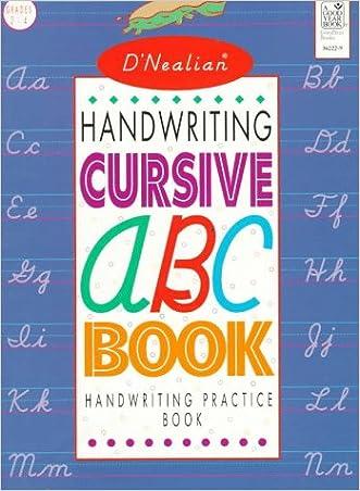 D'NEALIAN HANDWRITING CURSIVE ABC BOOK