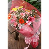 翌日配達お花屋さん カラフルな花色で人気ナンバーワン!フラワーシャワー(季節の花ガーベラ花束) 正午までのご注文は翌日配達