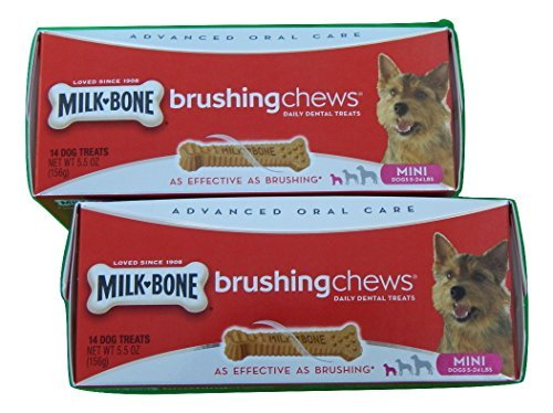 milk-bone-brushing-chews-daily-dental-treats-for-mini-dogs-5-24-lbs-14-count-55-oz-box-pack-of-2-by-