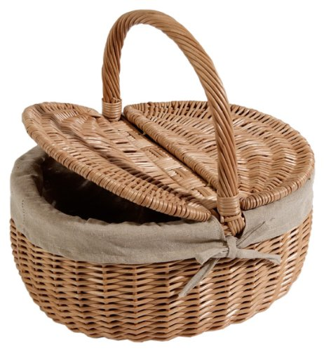 Nantucket Bike Basket CompanySteps Beach Collection Oval Picnic Bike Basket with Quick Release (Natural, Adult)