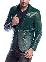 DEDA LEATHER Americana Piel Hombre (Verde)
