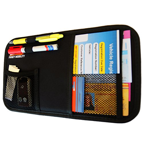 Fancy Mobility Car Sun Visor Organizer - Auto Document and Small Storage Holder - Pouch for Registration and Insurance - Perfect Minimalist Design - Comes With a Unique eBook and 5-Year Warranty (Car Visor Organizer Camo compare prices)
