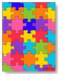 Colorful Puzzle Pieces Password Log
