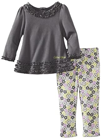 Calvin Klein Baby-girls Infant Tunic with Printed Leggings, Assorted, 18 Months