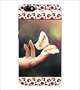 PrintDhaba Butterfly D-5103 Back Case Cover for HUAWEI HONOR 4X (Multi-Coloured)