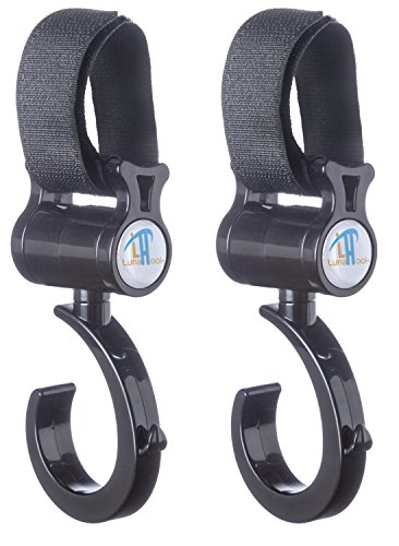 Stroller Hook By Luna - Universal Fit for All Strollers - Exceptional Quality - Lifetime Guarantee - 1