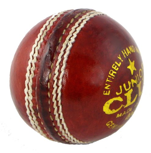 Upfront Qvu Club Match Leather Cricket Ball - Junior 4.75 oz. Hand made 4 piece cricket balls.