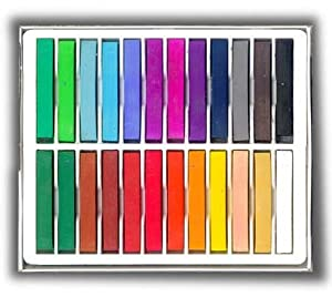 24 Soft Chalk Pastels Set for Art Drawing, Scrapbooking & More -Assorted Colors (24 Colours)