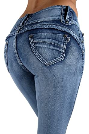 YH1063 - High Rise Colombian Style Stretch Denim, Butt Lift, Skinny Jeans Size 17