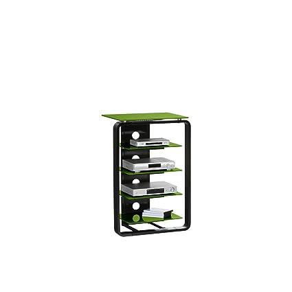 TV-juego de muebles de colour concept de colour (estructura de): de colour negro de alto brillo, de colour (Protector de pantalla de cristal): de colour verde