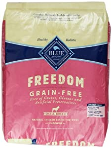 Blue Buffalo Small Breed Freedom Grain Free Chicken Recipe Dry Dog Food, 11-Pound
