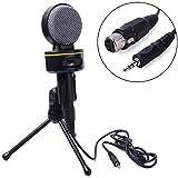 XCSOURCE® Kondensator Ton Mikrofon Aufnahme + Stand + Kabel für Laptop PC Skype MSN TH032