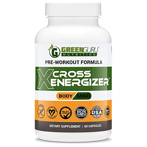 Pre Workout Energy Pills - Sustain Energy & Focus - Works with Nitric Oxide Boosters - All Natural Weight Loss Supplements - Crossfit, BodyBuilding, Cardio, Weightlifting (Veggie Capsules) (Pre Workout Energy Supplement compare prices)
