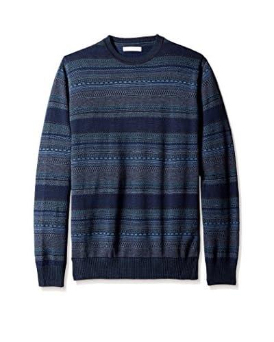 Alex Cannon Men's Jacquard Fair Isle Crew Neck Sweater